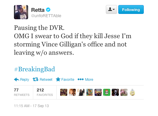 Retta Live-Tweeted Her Viewing Of This Week's 'Breaking Bad' artistic, funny-crazy-wtf-people, interesting, random, silly, weird