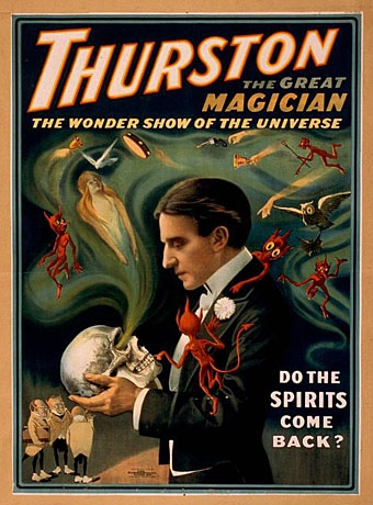 Stylish Occult Posters Promoting Magicians From 1900s