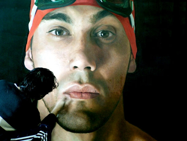 These Giant Hyperrealistic Paintings Will Absolutely Floor You artistic, funny-crazy-wtf-people, interesting, random, silly, weird