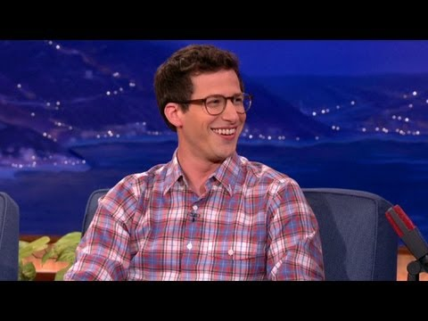 Andy Samberg Tells Conan About Adam Sandler Attending His Wedding