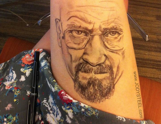 Jody Steel's Pop Culture Thigh Art
