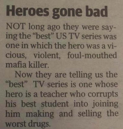 'Breaking Bad' Letter To The Editor
