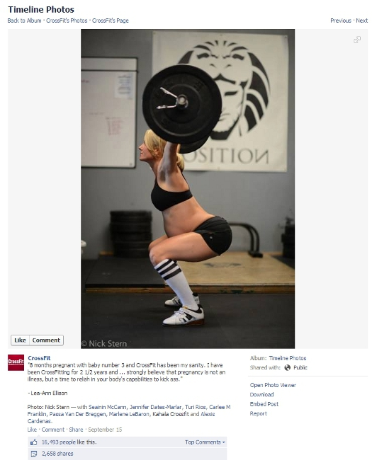 A Pregnant Woman Posted A CrossFit Photo On Facebook, Insults Ensued awesome, comedy, funny, interesting, lol, news, pictures, trending