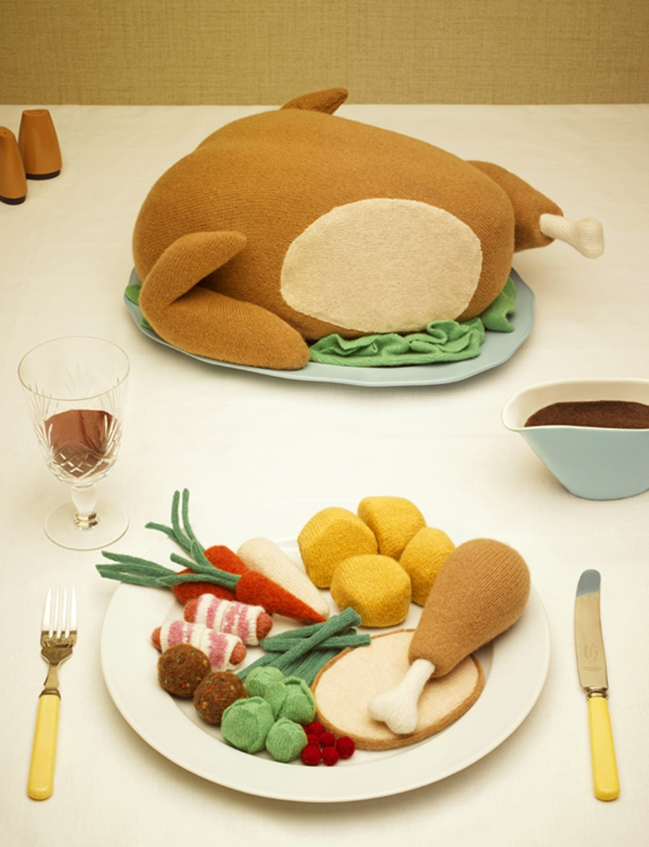 Realistic Comfort Foods Playfully Knitted Out of Wool food, knitted, wool