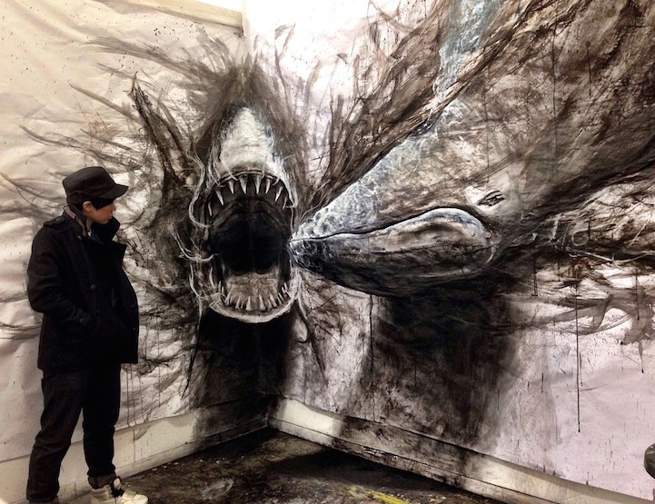 Incredible Life-Sized Drawings of Animals that Look 3D