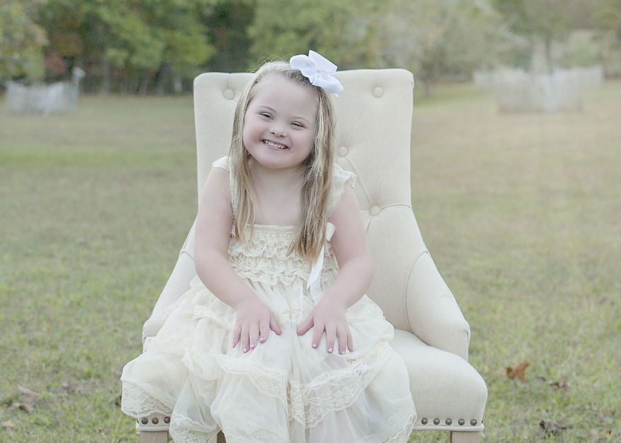 She taught us what true unconditional love is and how to go through life without worries Down Syndrome, photoshoot