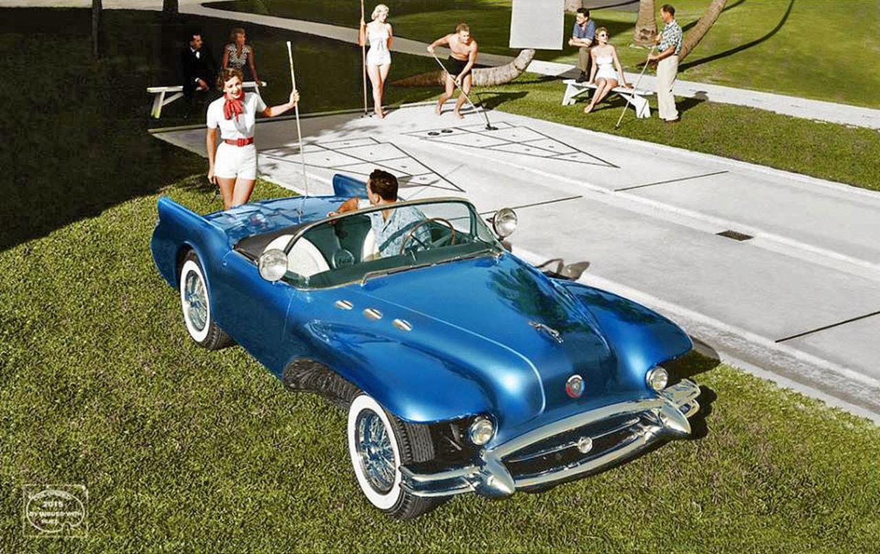 1954 Buick Wildcat II Motorama Concept general motors, концепт, фотографии