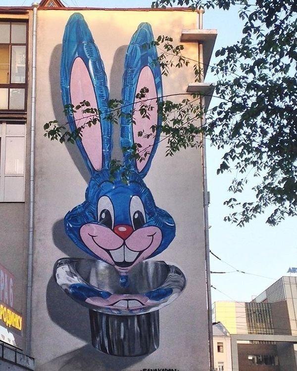 Гиперреалистичное граффити день, животные, кадр, люди, мир, снимок, фото, фотоподборка