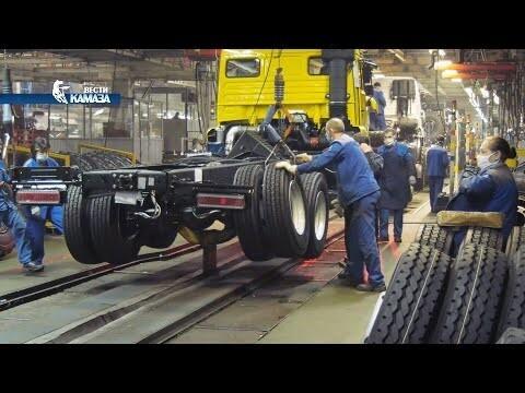 Видео конвейер камаза продажа фольксвагена транспортера т4 в воронеже