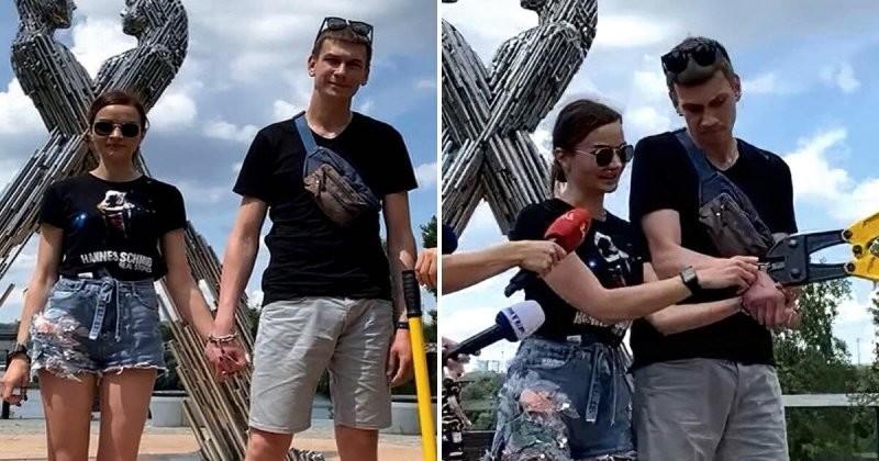 Влюбленные  сковали себя цепью на 123 дня: итог неутешительный  (4 фото)
