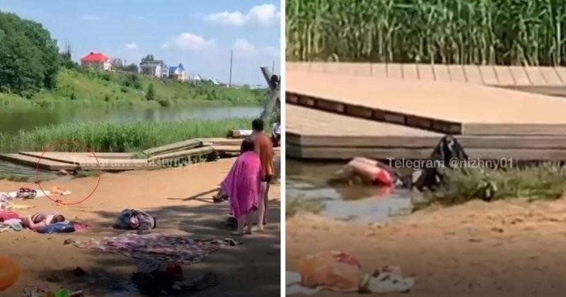 Отдыхающие накрыли утопленника пакетом и продолжили купаться (1 фото + 1 видео)